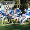 Rams #17 Justin Wiggins gets tackled by  Wildcats #55 Jackson McCarty at Saturday's Campbell Conference Football game between York and Kennebunk High School on 9-24-2016 @ Kennebunk, ME.  Matt Parker Photos