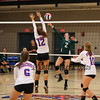 Winnacunnet Warriors NHIAA DIV I Girls Volleyball vs the Green Wave of Dover High School on Monday 9-26-2016 @ WHS.  WHS-1, DHS-3.  Matt Parker Photos