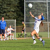 Winnacunnet's #5 Meg Dzialo works to control the ball on a break-away during Tuesday's NHIAA DIV ! Girls Soccer game between Winnacunnet and Dover High Schools on 9-27-2016.  Matt Parker Photos