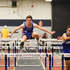 Winnacunnet's John Rooney clears the bar in the 55m Hurdles finishing with a time of 9.90 during Sunday's NH Indoor Track and Field League Evening Session @ The Paul Sweet Oval @ UNH on 1-10-2016.  Matt Parker Photos