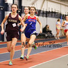Winnacunnet's Kelly Arsenault (1st 4:51.30) runs with Alvirne's Jenna Bradish (3rd 5:17.80) and Trinity's Delaney Kimball (2nd 5:04.70) in the Girls 1500m run during Sunday's NH Indoor Track and Field League Evening Session @ The Paul Sweet Oval @ UNH on 1-10-2016.  Matt Parker Photos