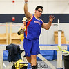Winnacunnet's Michael Moser throws for 38-04.75 in the Boys Shot Put during Sunday's NH Indoor Track and Field League Evening Session @ The Paul Sweet Oval @ UNH on 1-10-2016.  Matt Parker Photos