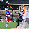 Winnacunnet's Mike Bouzianis takes a shot on the Ipswitch goal during Saturday's Boys Lacrosse scrimmage between Winnacunnet and Ipswitch High Schools in preseason play @ Amesbury Sports Park 4-2-2016.  Matt Parker Photos