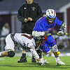 Winnacunnet's #75 Liam McNamara and Clippers #27 Cole Brams   try to control the ball during a faceoff after a Portsmouth goal during Wednesday's NHIAA DIV II Boys Lacrosse game between Winnacunnet and Portsmouth High School on 4-27-2016 @ Portsmouth.  Matt Parker Photos