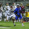 Winnacunnet's #89 Lucas Sexton hustles up the field with Clippers defender #20 Jack Stevens fending off and #24 Jamie Meade covering during Wednesday's NHIAA DIV II Boys Lacrosse game between Winnacunnet and Portsmouth High School on 4-27-2016 @ Portsmouth.  Matt Parker Photos