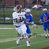 Clippers #11 John Franks runs the ball up the sideline with Winnacunent's #83 Matt Cooney trailing during Wednesday's NHIAA DIV II Boys Lacrosse game between Winnacunnet and Portsmouth High School on 4-27-2016 @ Portsmouth.  Matt Parker Photos