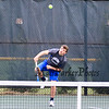 Winnacunnet's Dylan Taylor serves the ball during Friday's #1 Doubles match with teammate Nick Minichello vs Nashua South's Brandon Stempler and Pranav Prabhala in NHIAA DIV I Boys Tennis @ Winnacunnet's home opener on 4-8-2016 @ WHS. Matt Parker Photos