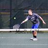 Winnacunnet's #6 Singles player Ryan Gallant returns the ball  to Nashua South's James Liang in NHIAA DIV I Boys Tennis @ Winnacunnet's home opener on 4-8-2016 @ WHS. Matt Parker Photos