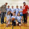 HYA 5-6 Girls Basketball Team Photo North Carolina sponsored by Blue Water Mortgage on Saturday 1-14-2017 @ Marston School, Hampton, NH.  Matt Parker Photos