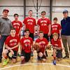 HYA 7-8 Coed Basketball Team Photo Ohio State sponsored by Sanborn's Candies on Saturday 1-7-2017 @ The Rim, Hampton, NH.  Matt Parker Photos
