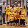 HYA 7-8 Girls Basketball Team Photo Notre Dame on Saturday 1-7-2017 @ The Rim, Hampton, NH.  Matt Parker Photos