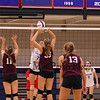 Winnacunnet Warriors Girls Volleyball vs the Grizzlies of Goffstown High School on Monday 10-16-2017 @ WHS.  Matt Parker Photos