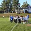 Winnacunnet Warriors Girls Soccer on Senior Night vs the Broncos of Alvirne High School in DIV I Soccer on Tuesday 10-17-2017 @ WHS.  WHS-1, AHS-1.  Matt Parker Photos