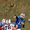Winnacunnet QB #17 Patrick MacDougall makes a pass during Saturday's NHIAA DIV I semifinal game between Winnacunnet and Goffstown High Schools on 11-11-2017 @ WHS.  Matt Parker Photos