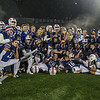 Winnacunnet football players hold up their championship plaque after their win over the Astros at Saturday's NHIAA DIV I Finals between Winnacunnet and Pinkerton Academy on 11-18-2017 @ Wildcat Stadium, UNH, Durham, NH.  Matt Parker Photos