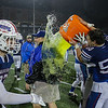 Winnacunnet's Assistant Coach Steve Magri Sr. gets drenched with Gatorade by #50 Jordan Gallagher and #74 James Phennicie after Winnacunnet's Win over the Astros at Saturday's NHIAA DIV I Finals between Winnacunnet and Pinkerton Academy on 11-18-2017 @ Wildcat Stadium, UNH, Durham, NH.  Matt Parker Photos