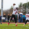 Winnacunnet Warriors Football vs the Bedford Bulldogs at Saturday's NHIAA DIV I Quarterfinals game on 11-4-2017 @ WHS.  WHS-34, BHS-33 in OT.  Matt Parker Photos