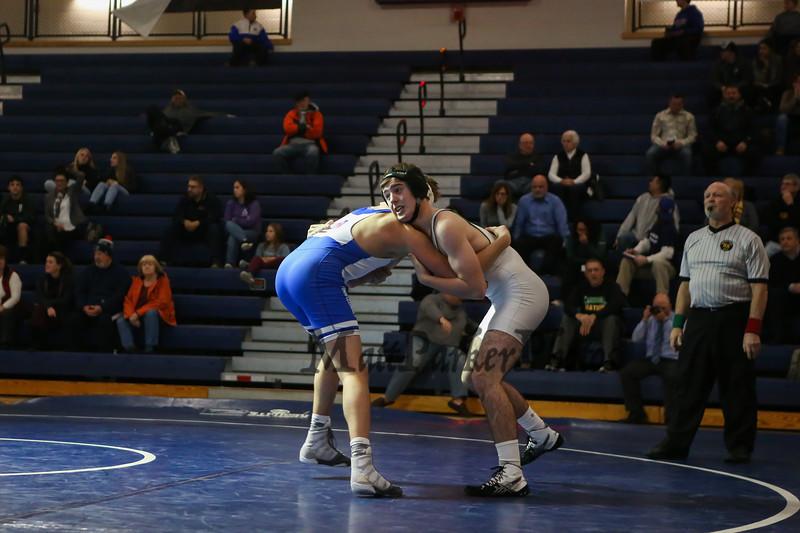 Winnacunnet Warriors Wrestling vs the Cardinals of Bishop Guertin High School on Wednesday 12-13-2017 @ WHS.  Matt Parker Photos