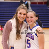 Daneille Boucher and Ashley Gallant at the Winnacunnet Warriors Girls Basketball Home Opener vs the Green Wave of Dover High School on Friday 12-15-2017 @ WHS.  WHS-40, DHS-37.  Matt Parker Photos