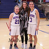 Lauren Considine, Emily Britton and Hannah Driscoll at the Winnacunnet Warriors Girls Basketball Home Opener vs the Green Wave of Dover High School on Friday 12-15-2017 @ WHS.  WHS-40, DHS-37.  Matt Parker Photos