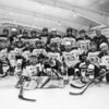Team picture of the 2017-2018 Warrior Saints Girls Hockey inaugural home opener vs Kingswood High School on Saturday 12-16-2017 @ Dover Ice Arena.  WS-5, KHS-1.  Matt Parker Photos