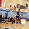 Winnacunnet Warriors vs the Hilltoppers of Somersworth High School in the first round of the 2017 Oyster River High School Bobcat Invitational Boys Basketball Tournament on 12-26-2017 @ Oyster River HS.  WHS-61, SHS-48.  Matt Parker Photos