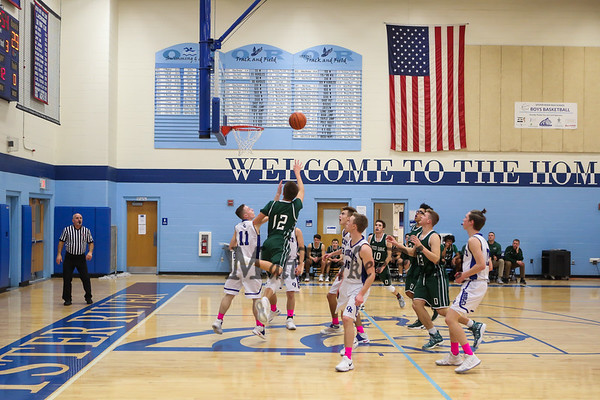 2017-12-28 Oyster River Boys Basketball vs Dover