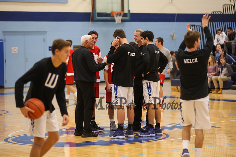 Winnacunnet Warriors vs the Red Raiders of Spaulding High School in the Championship game of the 2017 Oyster River High School Bobcat Invitational Boys Basketball Tournament on  Thursday 12-28-2017 @ Oyster River HS.  WHS-74, SHS-61.  Matt Parker Photos