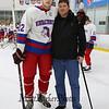 Winnacunnet Senior #22 Bailey McDaniel and Dad at Winnacunnet Hockey vs Windham High School at Saturday's NHIAA DIV II Hockey game on 2-18-2017 @ The Rinks at Exeter.  Matt Parker Photos