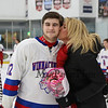 Winnacunnet Senior #22 Bailey McDaniel and Mom at Winnacunnet Hockey vs Windham High School at Saturday's NHIAA DIV II Hockey game on 2-18-2017 @ The Rinks at Exeter.  Matt Parker Photos