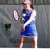 Winnacunnet's Jess Vogel returns a shot to Derryfield's Ada Hu in the #3 singles match during Wednesday's NHIAA DIV I Girls Tennis Match between Winnacunnet and Derryfield School on 5-10-2017 @ WHS.  Matt Parker Photos