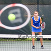 Winnacunnet's Megan Pike gets ready for a return shot by Derryfield's Caroline Desmarais in the #6 singles match during Wednesday's NHIAA DIV I Girls Tennis Match between Winnacunnet and Derryfield School on 5-10-2017 @ WHS.  Matt Parker Photos