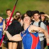 Winnacunnet's James Morse looks to the sky before releasing the javelin at the Winnacunnet Warriors Boys and Girls Spring Track meet vs the Bull Dogs of Bedford High School on Tuesday 5-16-2017.  Matt Parker Photos