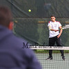 #2 singles player Austin Gill of the Broncos vs Winnacunnet's Dimitri Minichello of Winnacunent High School in NHIAA DIV I Boys Tennis on Monday 5-8-2017 @ WHS.  Matt Parker Photos