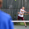 Jackson Tarrant of the Broncos of Alvirne plays in the #4 single position vs Winnacunnet's Ben Cranford in NHIAA DIV I Boys Tennis on Monday 5-8-2017 @ WHS.  Matt Parker Photos