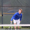 Winnacunnet's #3 singles Mark Fagan vs Chris Murphy of the Broncos of Alvirne High School in NHIAA DIV I Boys Tennis on Monday 5-8-2017 @ WHS.  Matt Parker Photos