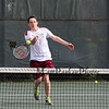 Chris Murphy of the Broncos of Alvirne plays in the #3 singles match vs Winnacunnet's Mark Fagan in NHIAA DIV I Boys Tennis on Monday 5-8-2017 @ WHS.  Matt Parker Photos