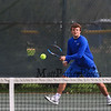 Winnacunnet's #1 singles Dylan Taylor vs Jared Whalen of the Broncos of Alvirne High School in NHIAA DIV I Boys Tennis on Monday 5-8-2017 @ WHS.  Matt Parker Photos