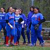 Winnacunnet Warriors Girls Softball vs the Blue Hawks of Exeter High School on Tuesday 5-9-2017 @ EHS.  Matt Parker Photos
