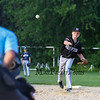 Hampton Black's pitcher #1 James O'Hara throws a pitch at Monday's 1st Round Seacoast Baseball U13-14 playoffs between Hampton Black vs Exeter Red on 6-26-2017 @ Tuck Field Hampton, NH.  Matt Parker Photos