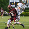 Clipper's #3 Sam Famolare gets the ball knocked out of his stick by Dover's #3 Dylan Russell during Wednesday's NHIAA DIV II Semi-Finals game between Portsmouth and Dover High Schools on 6-7-2017 @ Stellos Stadium, Nashua, NH.  Matt Parker Photos