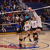 Winnacunnet Warriors Girls Volleyball vs the Bedford Bulldogs on Friday 9-15-2017 @ WHS.  Matt Parker Photos