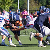 Exeter Blue Hawks vs Winnacunnet Warriors in DIV I Football on Saturday at Bill Ball Stadium, Eustis Field,9-23-2017 @ EHS.  EHS-7, WHS-23.  Matt Parker Photos