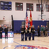 MCJROTC color guard at the start of the Winnacunnet Warriors Girls Basketball vs the Little Green of Central High Shool on Tuesday 1-9-2018 @ WHS.  WHS-34, CHS-24.  Matt Parker Photos