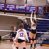 Winnacunnet Warriors Girls DIV I Volleyball game vs the Jaguars of Windham High School on Friday 10-12-2018 @ WHS.  Matt Parker Photos