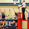 Exeter Blue Hawks Div I Girls Volleyball vs the Blue Devils of Salem High School on Monday 10-15-2018 @ EHS.  EHS-3, SHS-2.  Matt Parker Photos