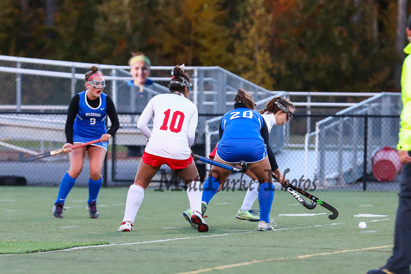 NHIAA DIV I Girls Field Hockey Semifinals #3 Winnacunnet Warriors vs #2 Astros of Pinkerton Academy on Thursday 10-25-2018 @ Exeter High School.  WHS-3, PA-2 in 2OT and 5 corners.  Matt Parker Photos