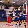 Winnacunnet Warriors Girls Volleyball vs the Tomahawks of Merrimack High School on Wednesday 10-3-2018 @ WHS.  WHS-3, MHS-0.  Matt Parker Photos