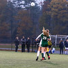 NHIAA DIV I Girls Soccer Semifinals between #2 the Little Green of Manchester Central and the #3 Blue Hawks of Exeter on Thursday 11-1-2018 @ Bill Ball Stadium, Exeter, NH.  CHS-3, EHS-1.  Matt Parker Photos