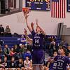 Winnacunnet Warriors Boys Basketball vs the Purple Panthers of Nashua South High School on Tuesday 2-13-2018 @ WHS.  WHS-43, NSHS-50.  Matt Parker Photos